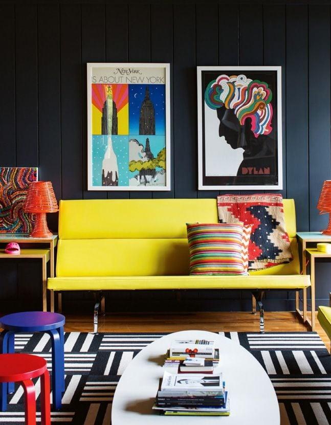 52 Nổi bật với ý tưởng màu neon cho phòng khách qpdesign