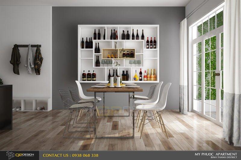 Thiết kế nội thất căn hộ chung cư Mỹ Phước 5