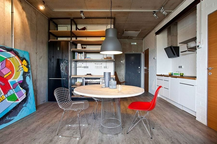 5Simple-decor-and-colorful-art-work-add-elegance-to-the-industrial-setting