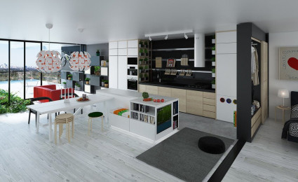 Tiện nghi và hiện đại với thiết kế cho nhà tương lai
