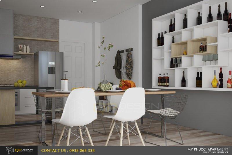 Thiết kế nội thất căn hộ chung cư Mỹ Phước 6