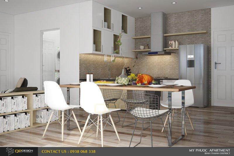 75 Thiết kế nội thất căn hộ chung cư Mỹ Phước 85m2 qpdesign
