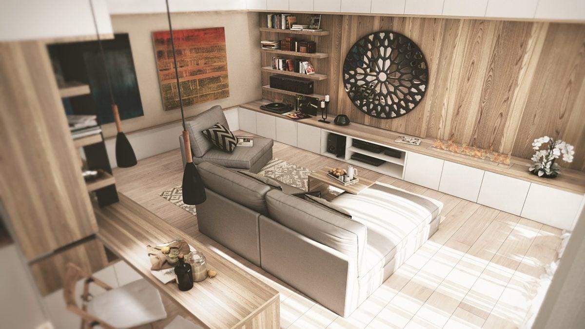 8artsy mirror 3 mẫu nhà với thiết kế chất liệu gỗ độc đáo qpdesign