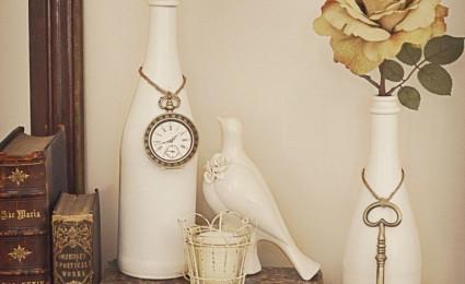 Tận dụng vỏ chai thủy tinh cho nhà thêm xinh xắn