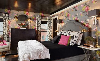 Hồng – xám sự kết hợp cho phòng ngủ thêm nhẹ nhàng thoải mái