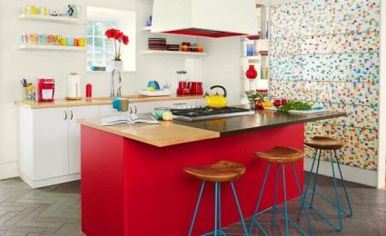 Trang trí phòng bếp với gam màu trắng