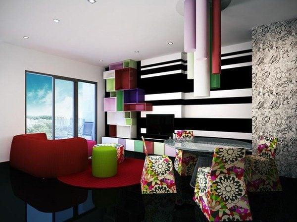 92 Nổi bật với ý tưởng màu neon cho phòng khách qpdesign