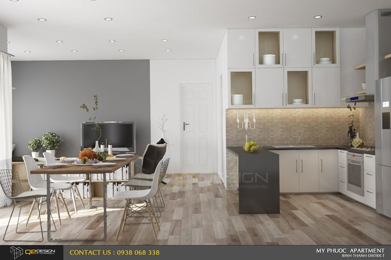 95 Thiết kế nội thất căn hộ chung cư Mỹ Phước 85m2 qpdesign