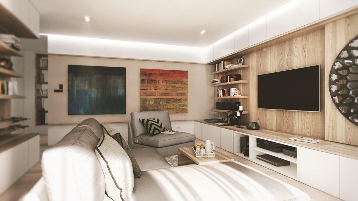 9wood panel wall 3 mẫu nhà với thiết kế chất liệu gỗ độc đáo qpdesign