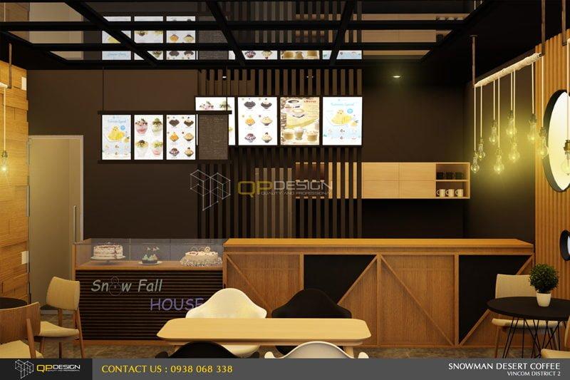 BINGSU COFFEESHOP 10 Thiết kế nội thất Snowman dessert coffee shop qpdesign
