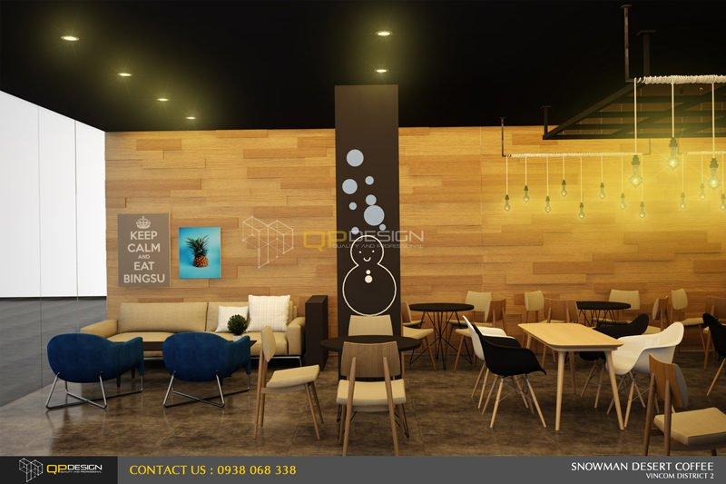 BINGSU COFFEESHOP 12 Thiết kế nội thất Snowman dessert coffee shop qpdesign