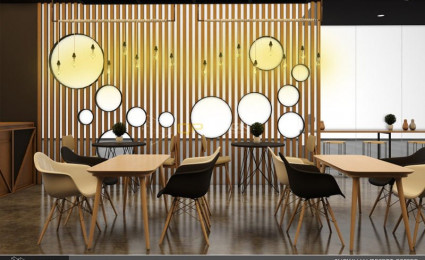 Thiết kế nội thất Snowman dessert coffee shop