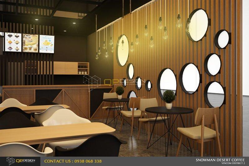 BINGSU COFFEESHOP 16 Thiết kế nội thất Snowman dessert coffee shop qpdesign