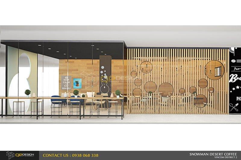 BINGSU COFFEESHOP 3 Thiết kế nội thất Snowman dessert coffee shop qpdesign