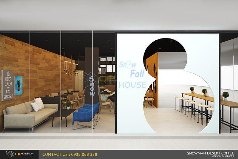 BINGSU COFFEESHOP 4 Thiết kế nội thất Snowman dessert coffee shop qpdesign