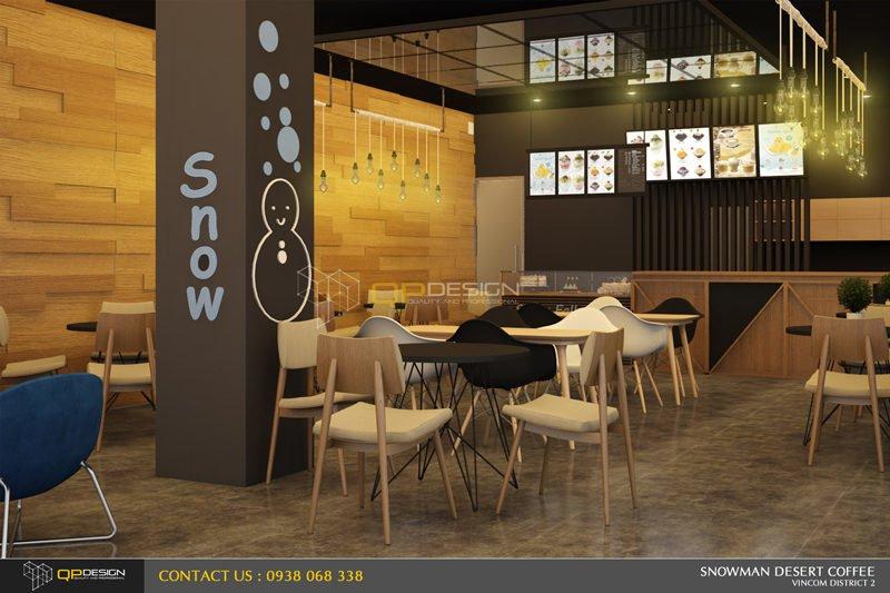 BINGSU COFFEESHOP 7 Thiết kế nội thất Snowman dessert coffee shop qpdesign