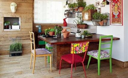 Phòng ăn với vị trí cây xanh hợp phong thủy