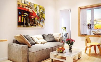 Mẫu nội thất đơn giản và hiện đại với tông màu ấm tuyệt đẹp