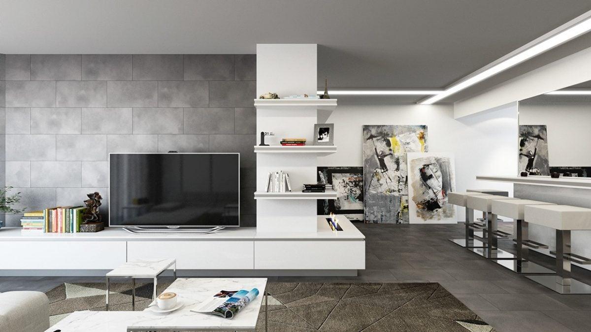 10pewter tile wall Kết cấu hoàn hảo cho những bức tường phòng khách qpdesign