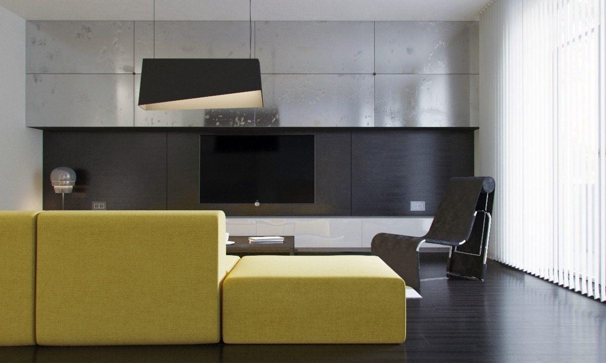 11black and steel living room Kết cấu hoàn hảo cho những bức tường phòng khách qpdesign