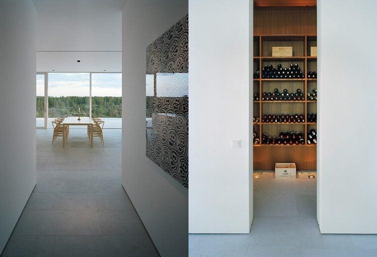 11modern lake house dining room 1 Biệt thự trên đảo nhìn ra biển Baltic khiến vạn người mê qpdesign