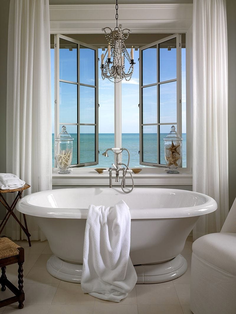 14Vintage-freestanding-bathtub-next-to-the-window-with-sea-view-in-beautiful-beach-style-bathroom