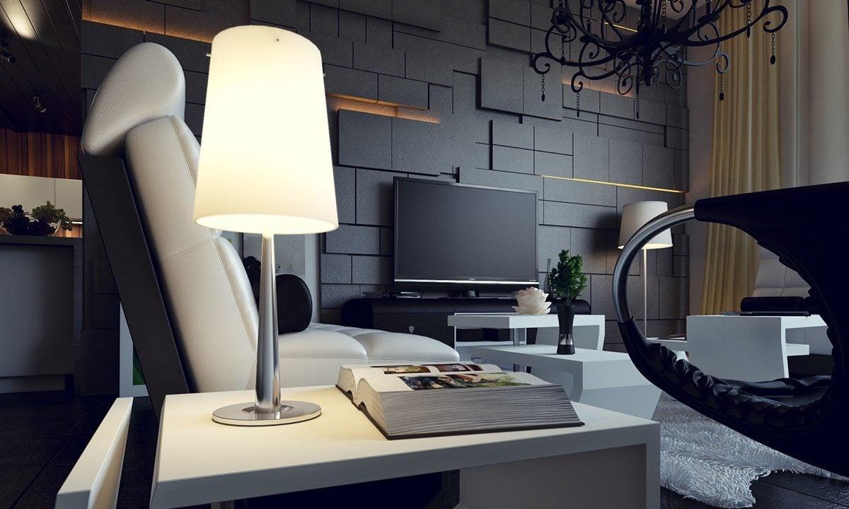 15modern asymmetric wall panels Kết cấu hoàn hảo cho những bức tường phòng khách qpdesign