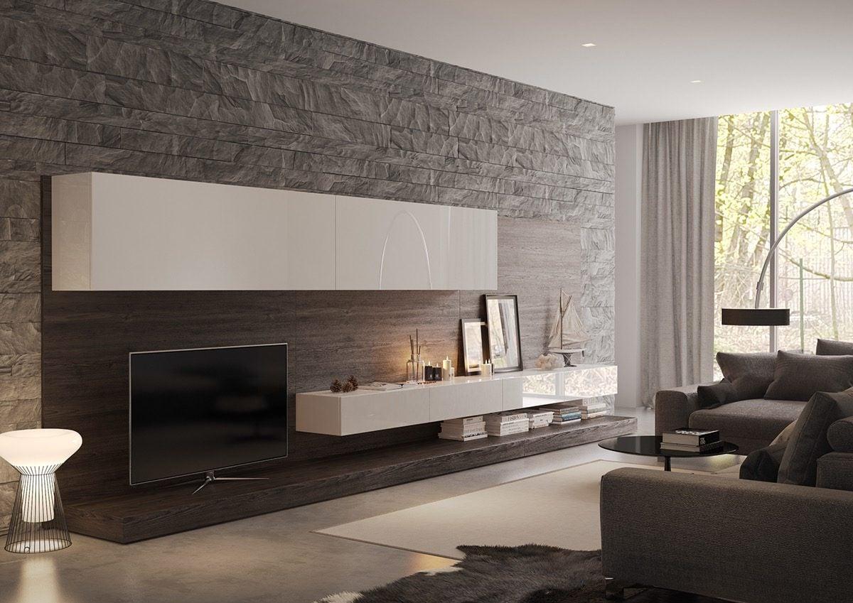 16modern stone wall cladding Kết cấu hoàn hảo cho những bức tường phòng khách qpdesign