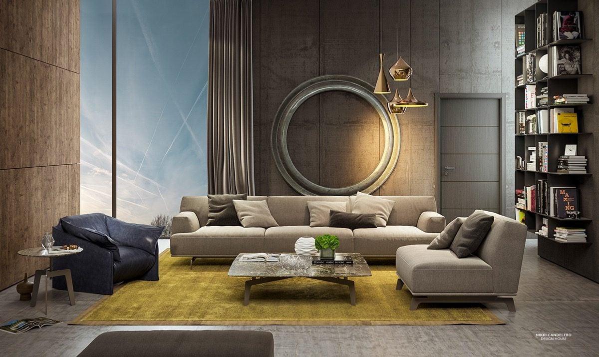 17Art Deco living room Kết cấu hoàn hảo cho những bức tường phòng khách qpdesign