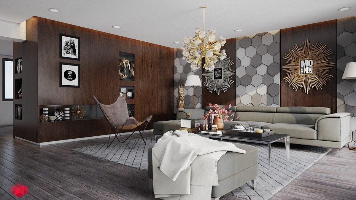 18hexagonal wall texture Kết cấu hoàn hảo cho những bức tường phòng khách qpdesign
