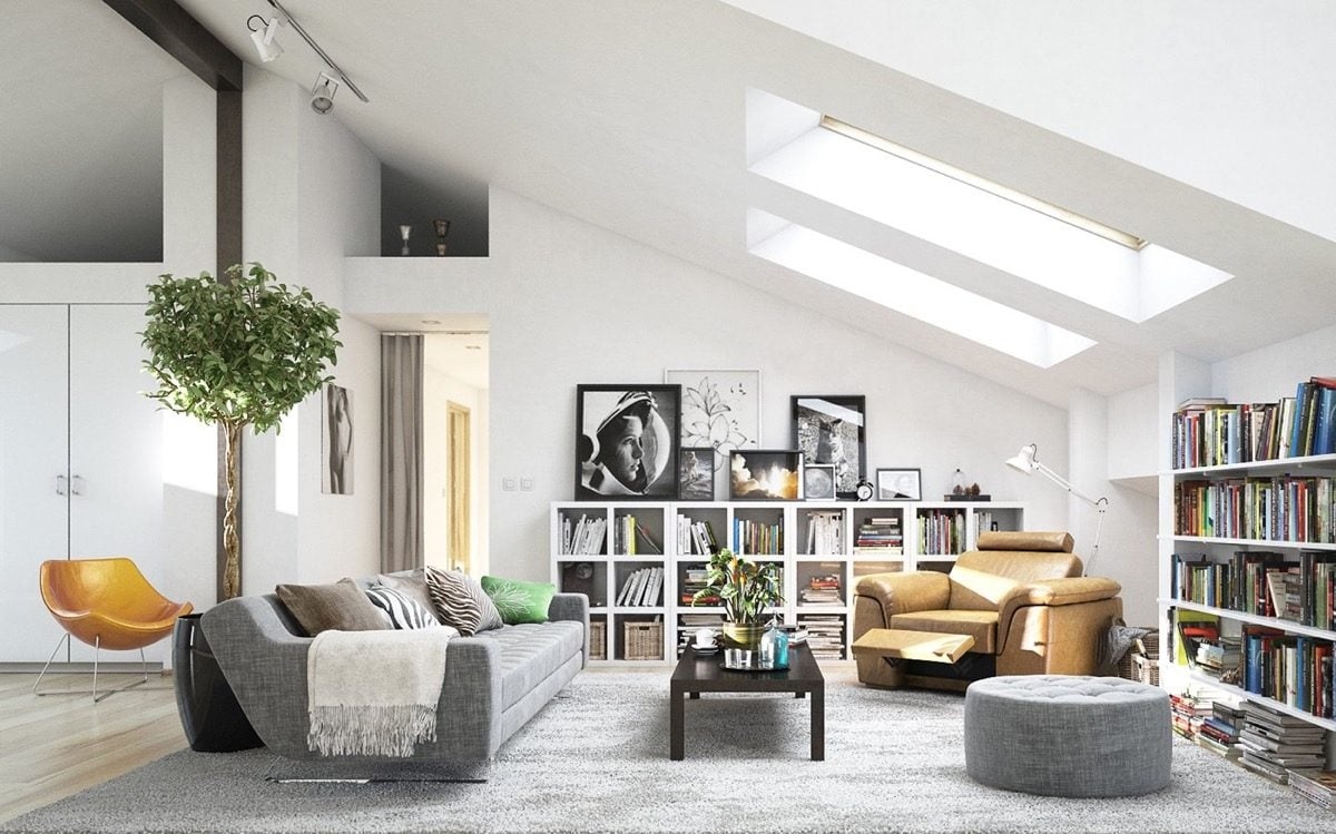 1attic living room 8 mẫu phòng khách theo phong cách Scandinave qpdesign
