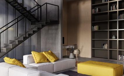 Phong cách công nghiệp cho căn hộ hiện đại