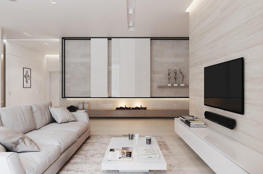 1natural interior design1 Căn hộ đơn giản hiện đại ở Moscow qpdesign