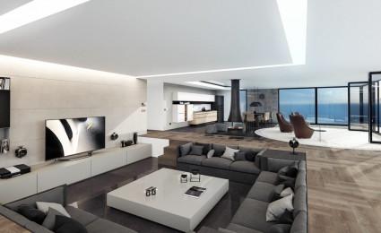 Thiết kế nhà hiện đại, sang trọng có tầm nhìn ra biển