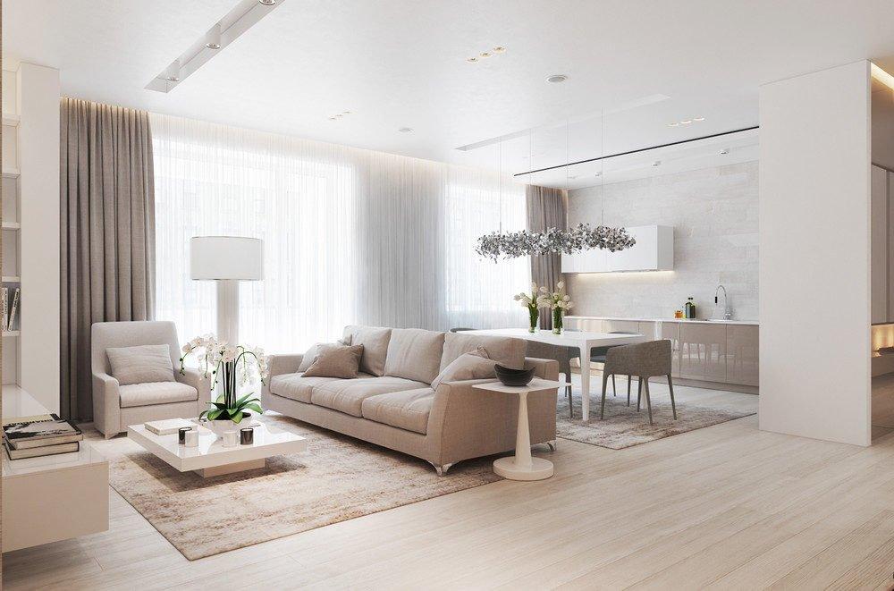 2light wood interior Căn hộ đơn giản hiện đại ở Moscow qpdesign