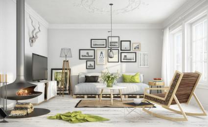 8 mẫu phòng khách theo phong cách Scandinave
