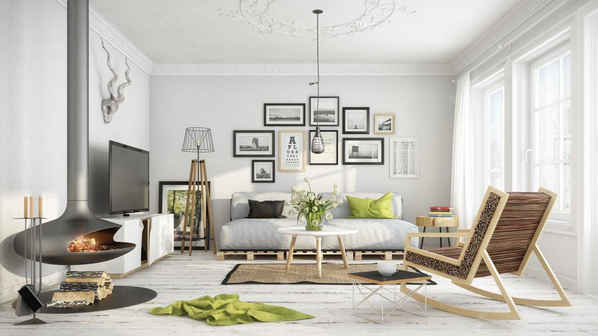 2white washed floors 8 mẫu phòng khách theo phong cách Scandinave qpdesign