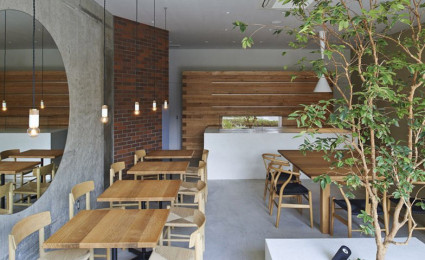 Thiên nhiên trong thiết kế quán cafe của Nhật