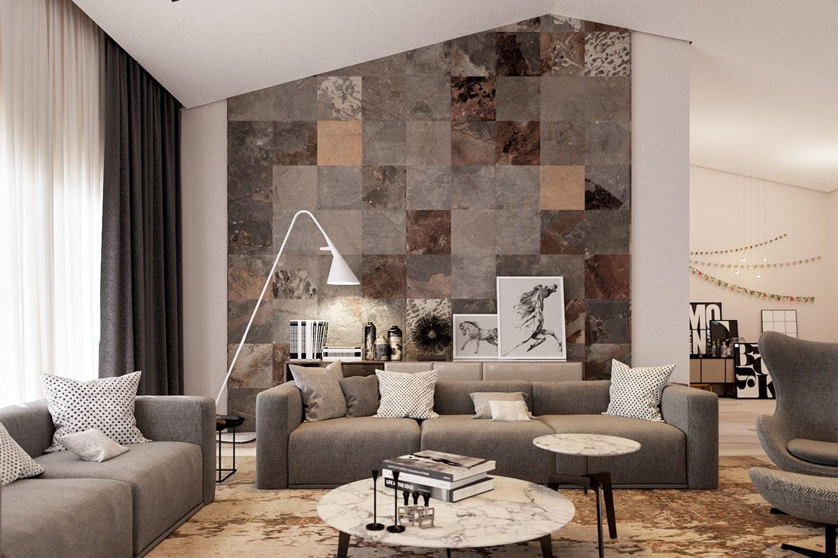 5multicolor tile living room Kết cấu hoàn hảo cho những bức tường phòng khách qpdesign