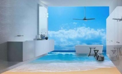 Lóa mắt với sàn nhà tắm siêu ảo