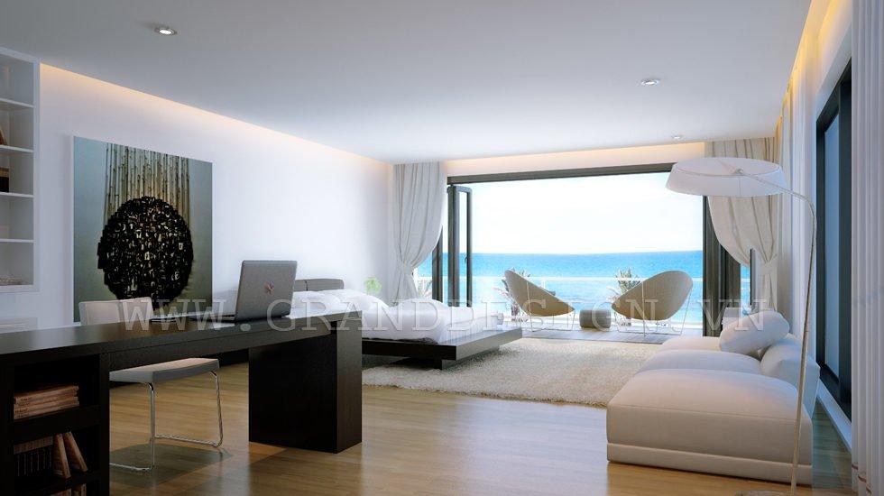 6Sea view bedroom Biệt thự biển Nha Trang, Khánh Hòa qpdesign