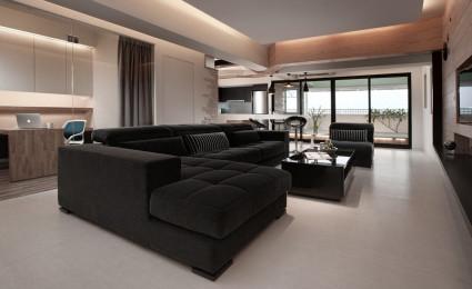 Nhà đẹp sử dụng nội thất gỗ chủ yếu