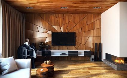 Kết cấu hoàn hảo cho những bức tường phòng khách