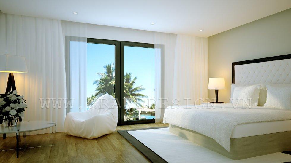9Neutral bedroom Biệt thự biển Nha Trang, Khánh Hòa qpdesign