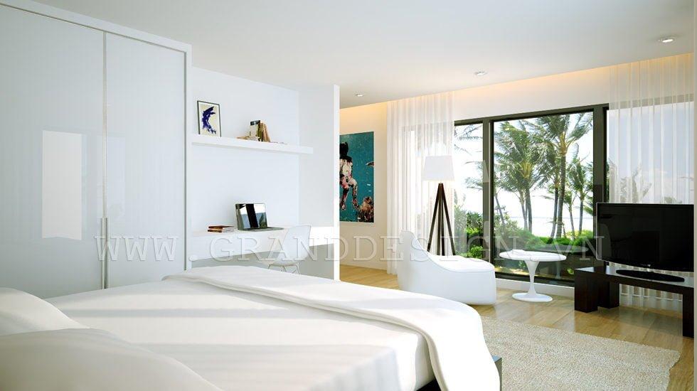 9White bedroom Biệt thự biển Nha Trang, Khánh Hòa qpdesign