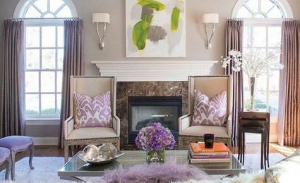 Màu tím oải hương lãng mạn và tinh tế trong trang trí nhà