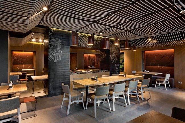 11Odessa Restaurant by YOD Design Lab 00010 Nhà hàng với không gian độc đáo trang trí bằng dây thừng qpdesign