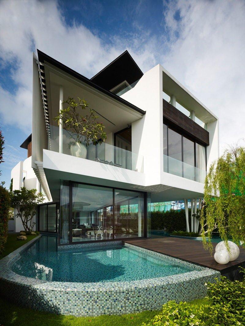 Ngôi nhà hiện đại và tiện nghi với hình dáng chiếc BOOMERANG