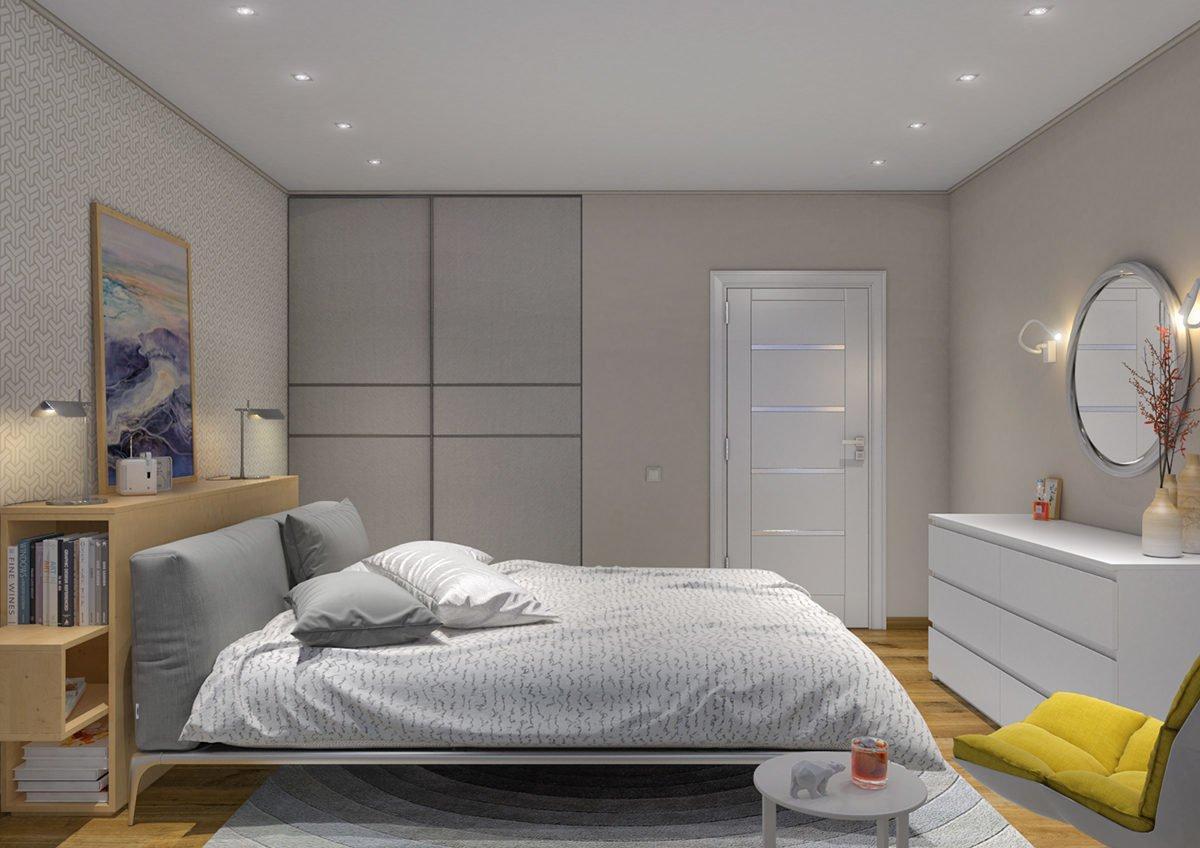 Màu sắc tươi sáng kết hợp những mảng hình học trong căn hộ 60m2