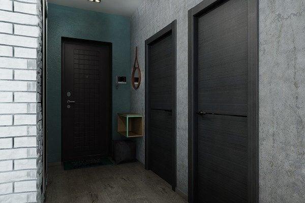 19hallway texture ideas 600x400 Câu chuyện thiết kế của những căn hộ dưới 50m2 qpdesign